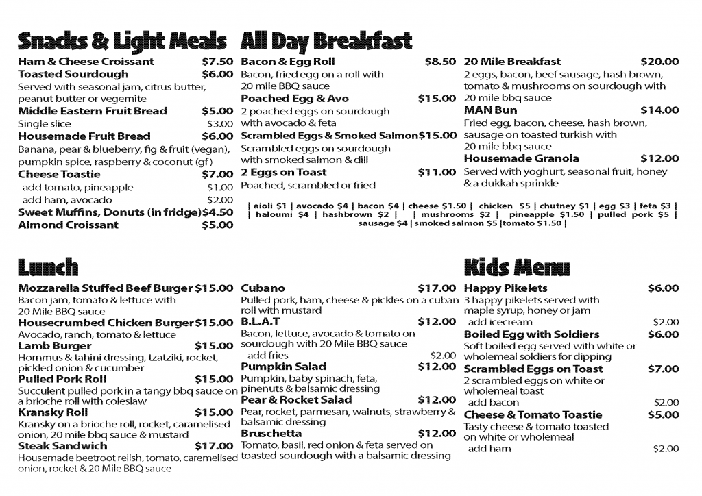 page two of menu